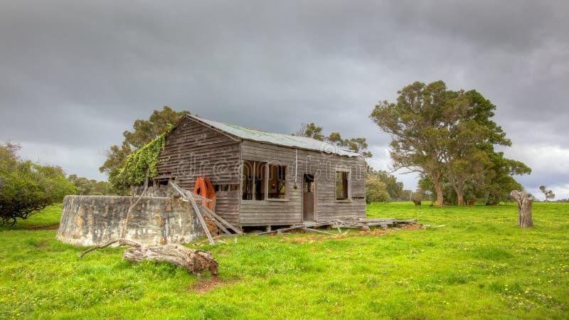 Granja australiana abandonada imagenes de archivo