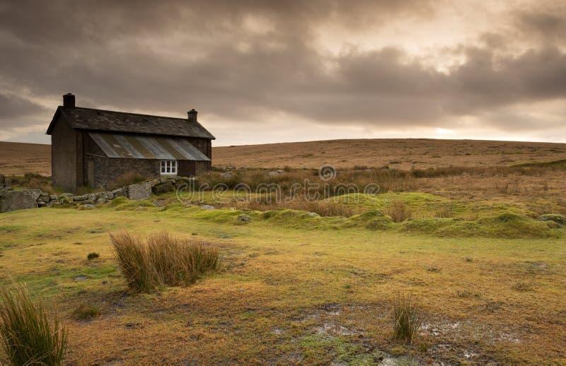 Granja cruzada Dartmoor Devon Reino Unido de las monjas imagenes de archivo