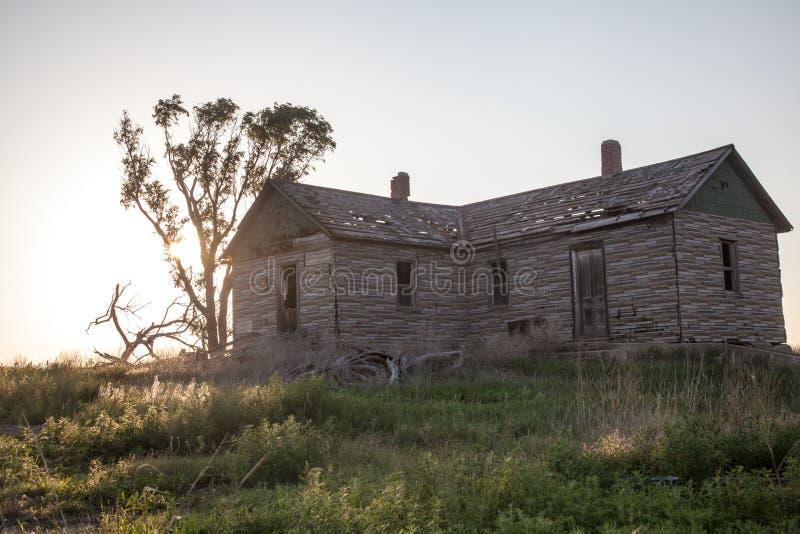 Granja de Abandonded foto de archivo