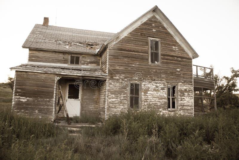 Granja de Abandonded fotos de archivo