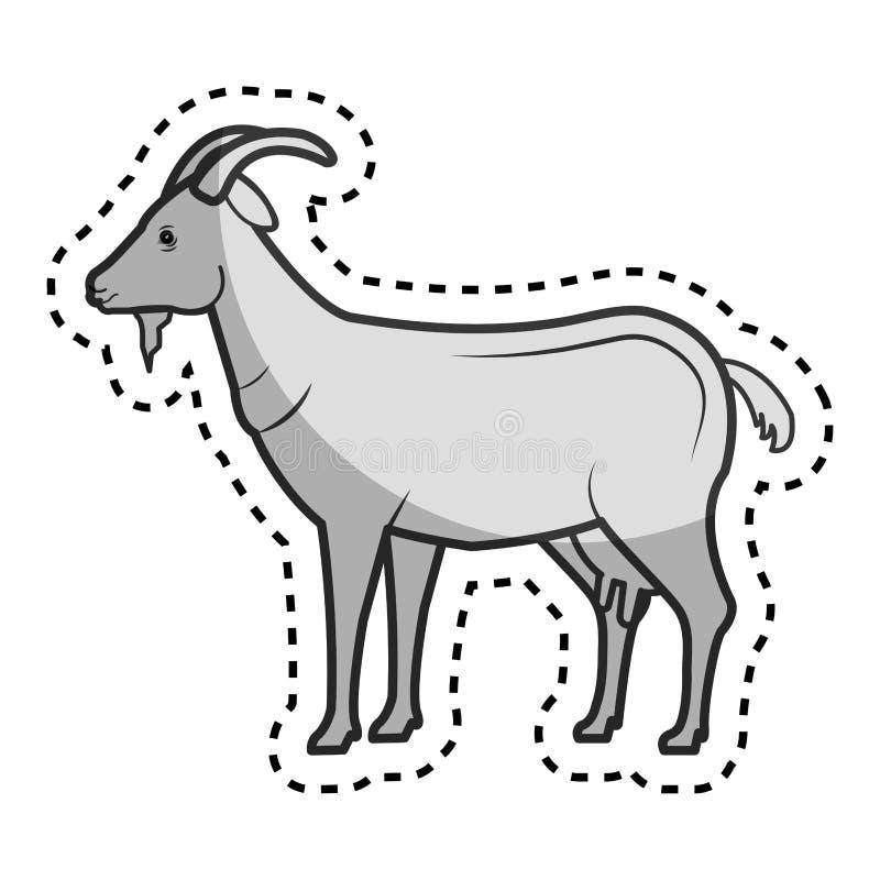 granja de la cabra en el campo libre illustration