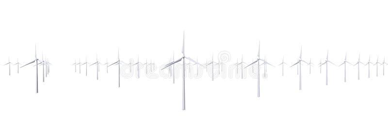 Granja de los molinoes de viento aislada libre illustration