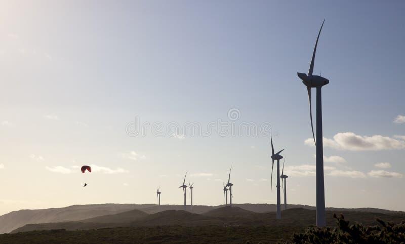 Granja de viento de Albany imagenes de archivo