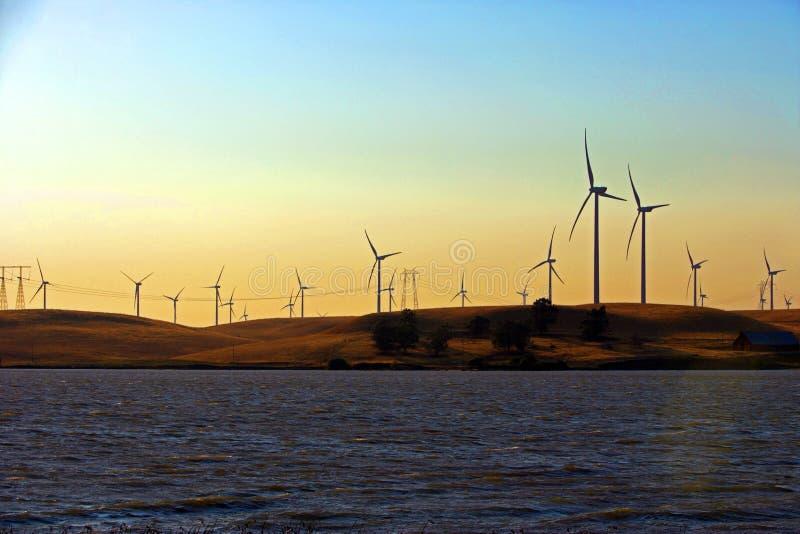 Granja de viento del delta fotografía de archivo