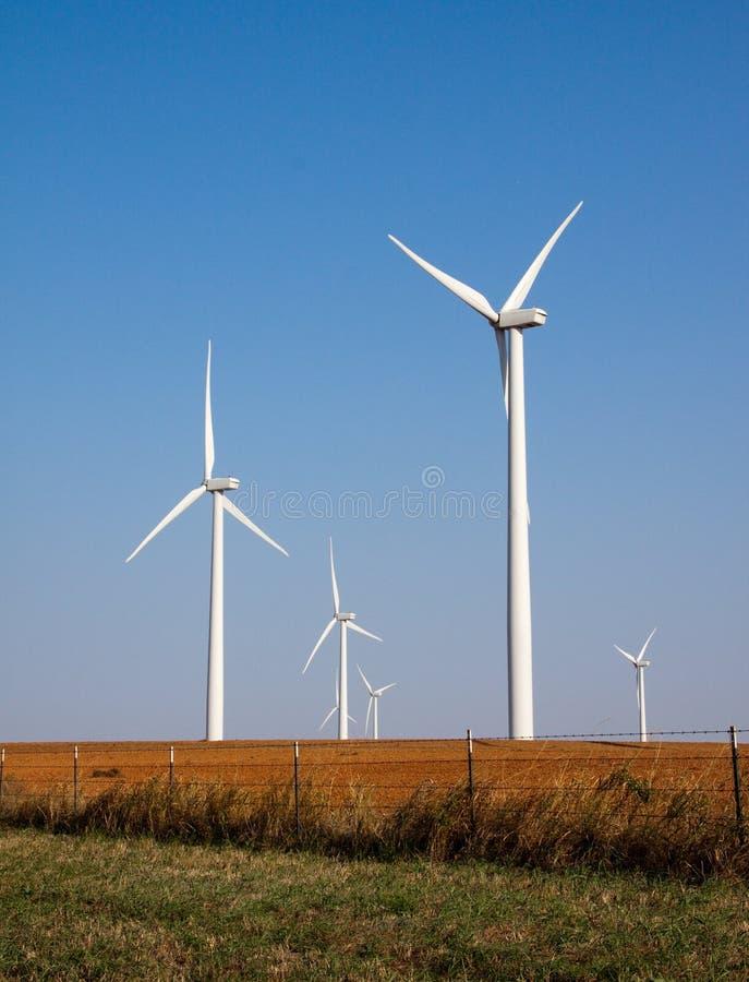 Granja de viento en Oklahoma imagen de archivo libre de regalías