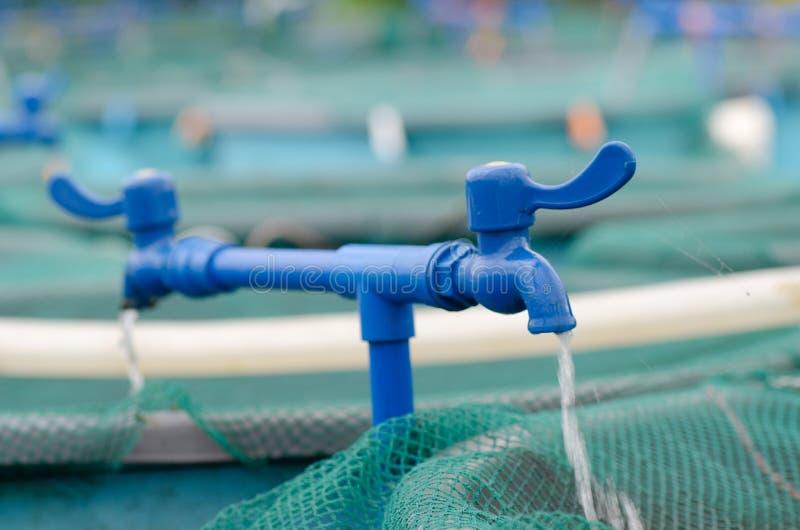 Granja del circuito de agua de la acuacultura foto de archivo