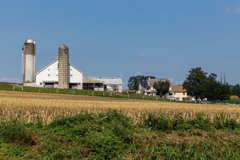 Granja del condado de Lancaster Amish foto de archivo