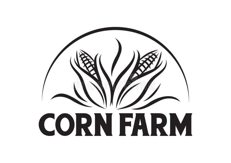 Granja del maíz del vector para el logotipo de la compañía stock de ilustración