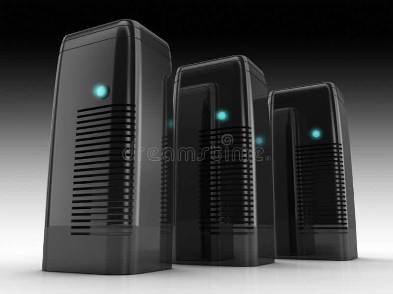 Granja del servidor ilustración del vector
