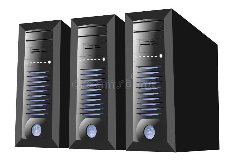 Granja del servidor stock de ilustración