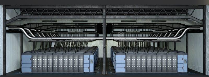 granja del servidor de la representación 3D libre illustration