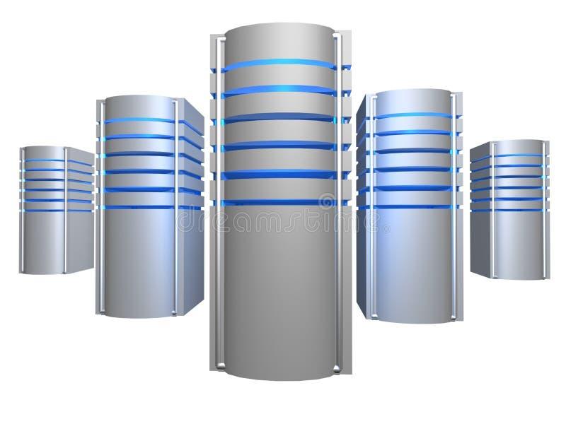Granja grande de los servidores 3D libre illustration