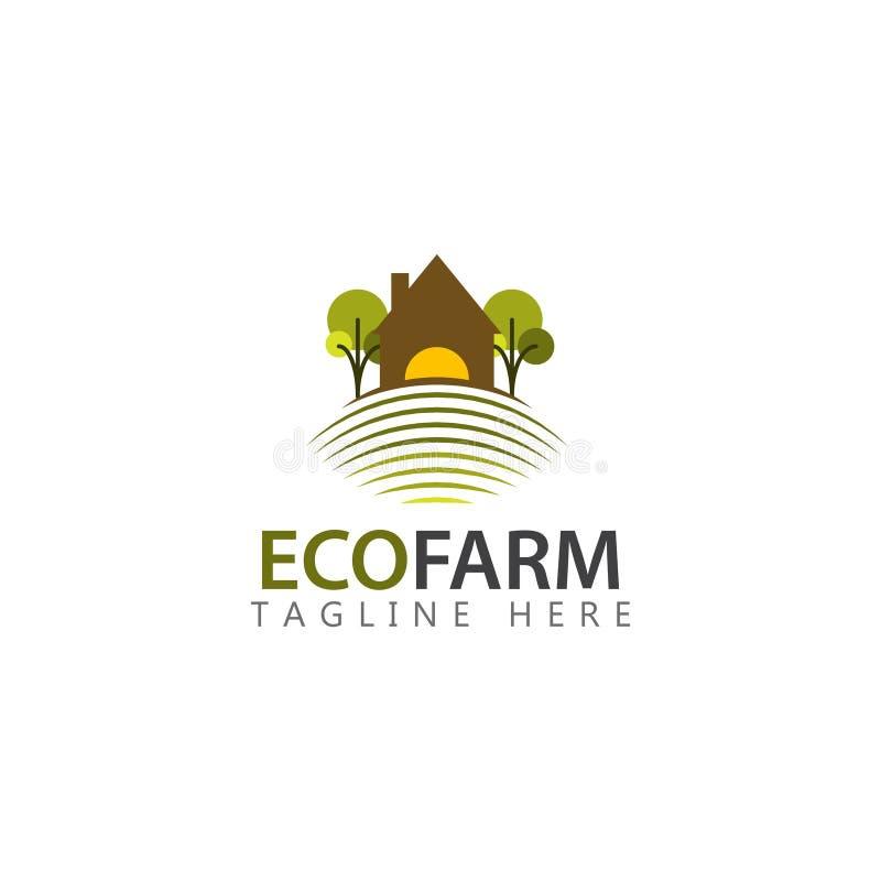 Granja Logo Vector Template Design Illustration de Eco libre illustration