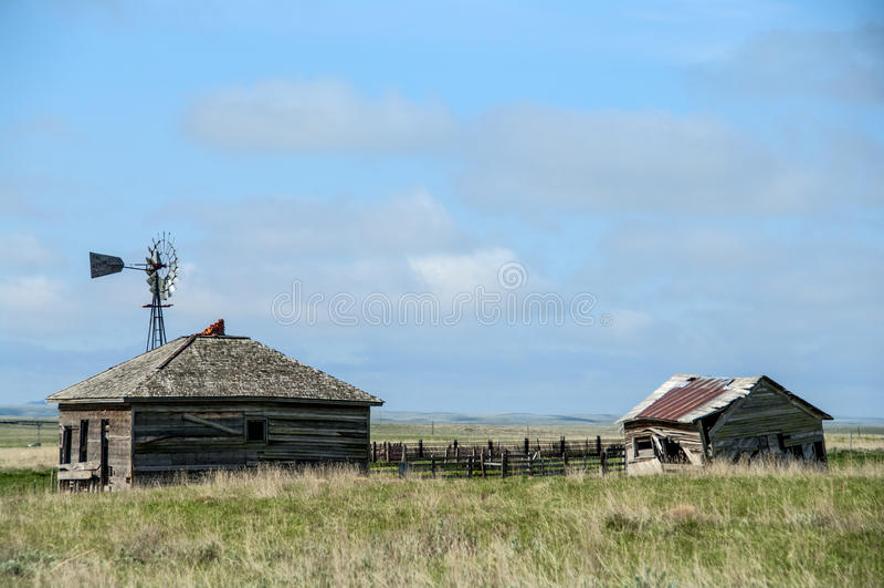 Granja vieja de Wyoming fotos de archivo libres de regalías