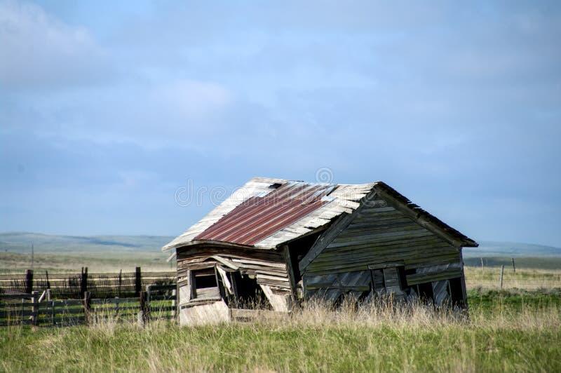 Granja vieja de Wyoming fotografía de archivo libre de regalías