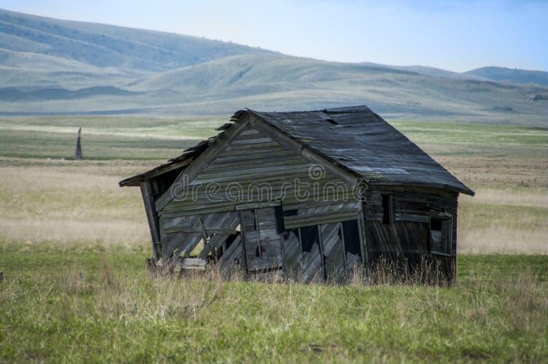 Granja vieja de Wyoming foto de archivo libre de regalías