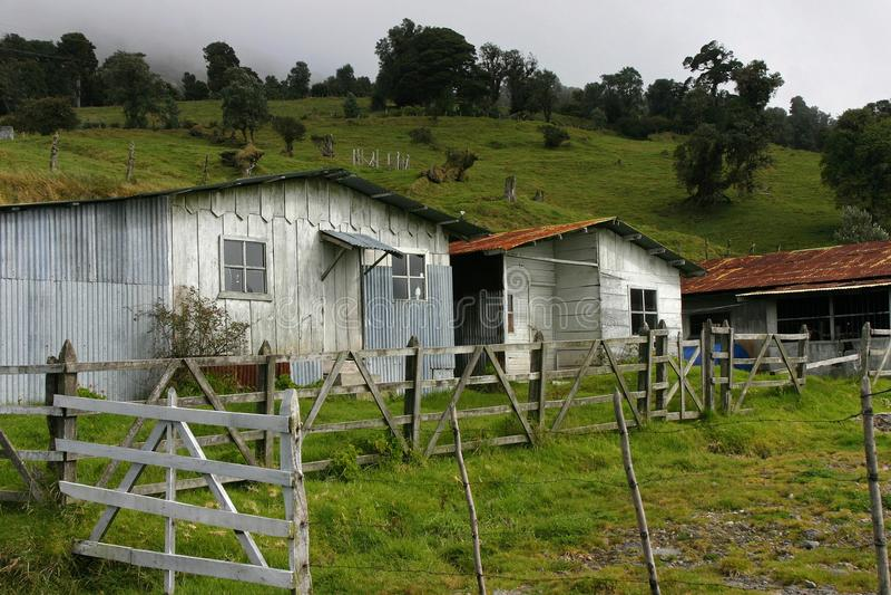 Granja vieja en Costa Rica fotos de archivo