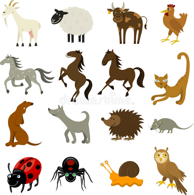Granja y animales domésticos imágenes de archivo libres de regalías