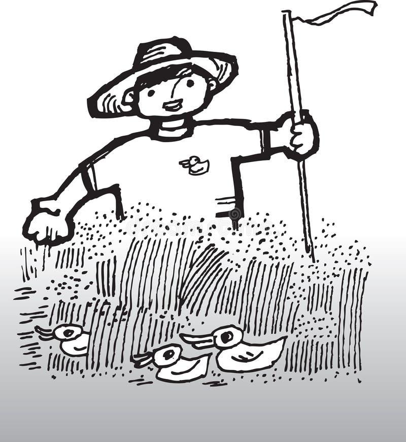 Granjero stock de ilustración