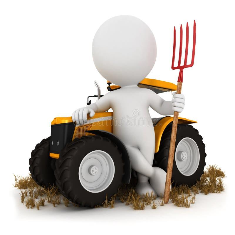 granjero blanco de la gente 3d stock de ilustración