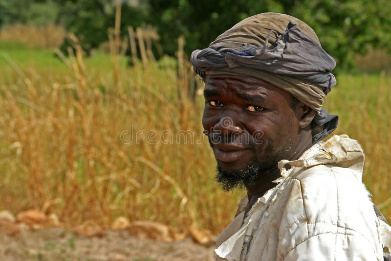 Granjero de Dogon en Malí fotografía de archivo