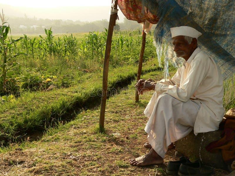Granjero indio pobre fotografía de archivo libre de regalías