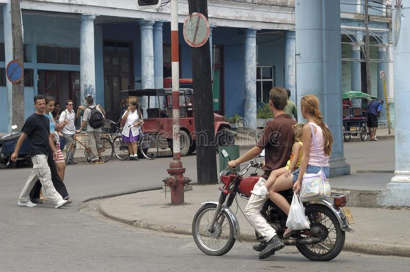 Streetlife at Cuba in Granma stock image