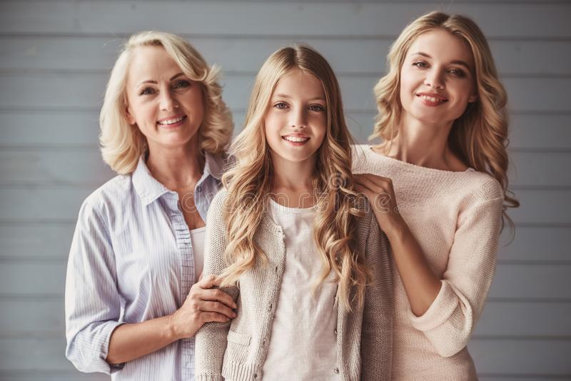 Granny, mom and daughter royalty free stock photos