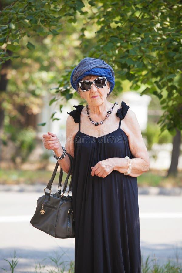 Granny Outdoors Stock Image Image Of Fashion, Mature