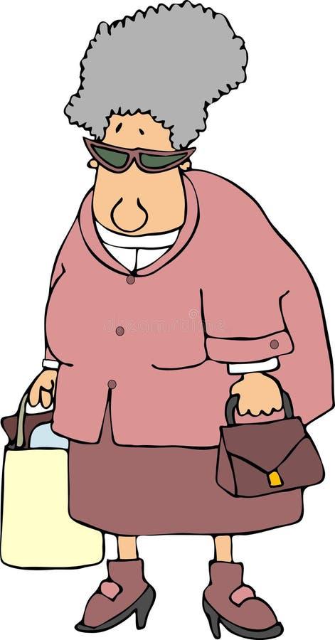 Granny shopper royalty free illustration