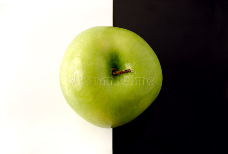 Granny Smith apple on artistic background royalty free stock images