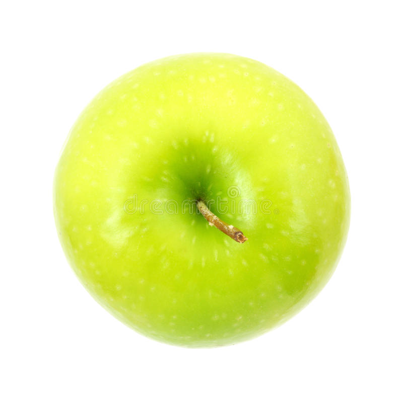 Granny Smith apple top stock photos