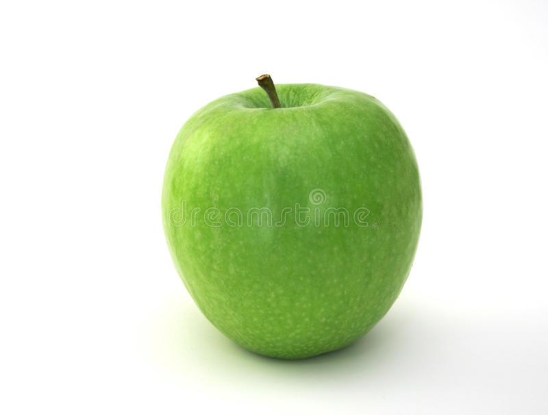 Granny Smith Apple. On white background royalty free stock photography