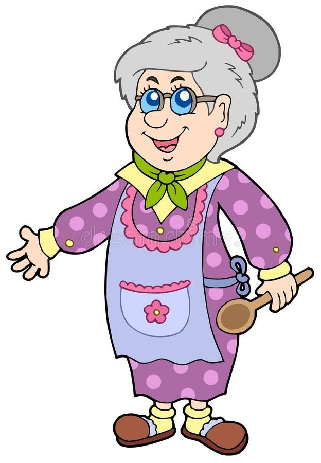 Granny with spoon