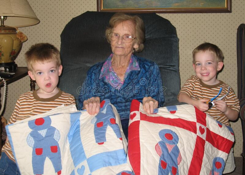 Granny And The Twins Free Public Domain Cc0 Image