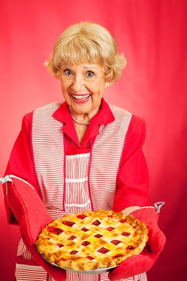 Grannys Cherry Pie casera foto de archivo