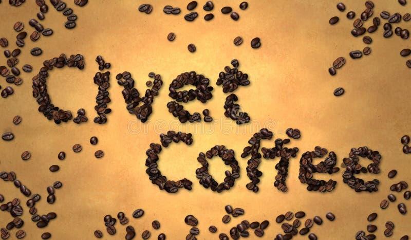 Download Grano De Café De La Civeta En El Papel Viejo Stock de ilustración - Ilustración de bebida, negro: 41916748