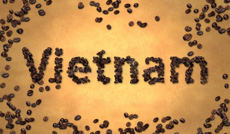 Download Grano De Café De Vietnam En El Papel Viejo Stock de ilustración - Ilustración de producción, alimento: 41916761