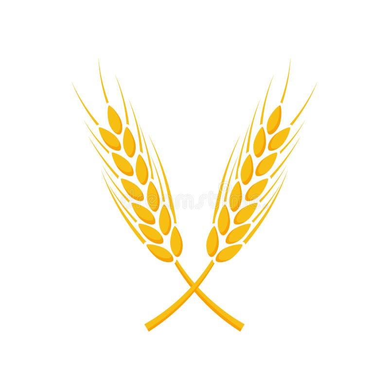 Grano Logo Template di agricoltura Illustrazione di vettore illustrazione di stock