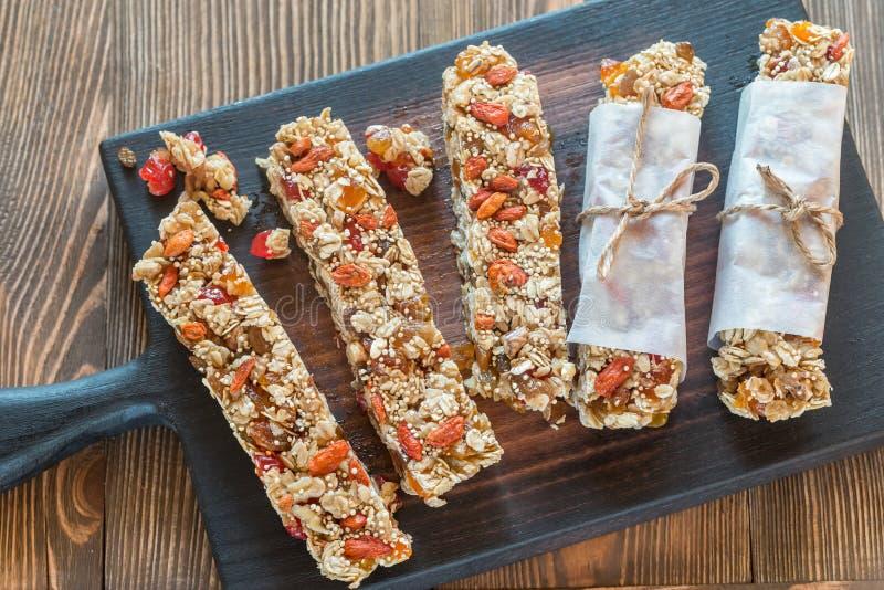 granola ράβδων σπιτικό στοκ φωτογραφίες με δικαίωμα ελεύθερης χρήσης