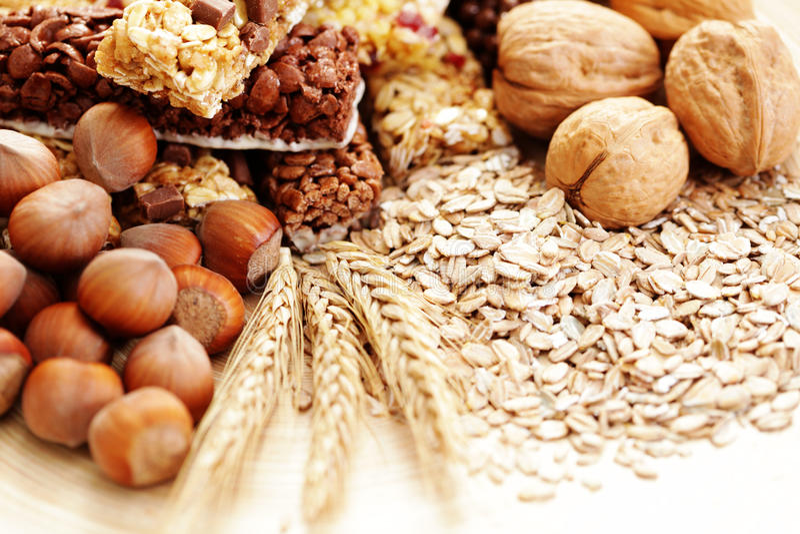 granola ράβδων στοκ εικόνα