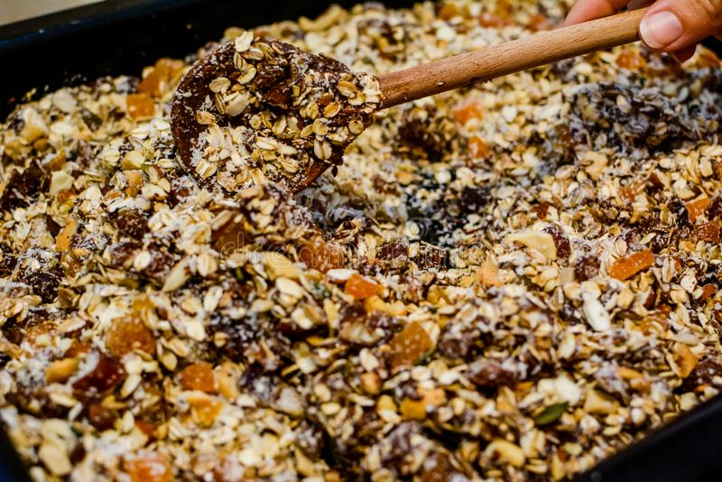 Granola или granula, хлопья стоковое изображение