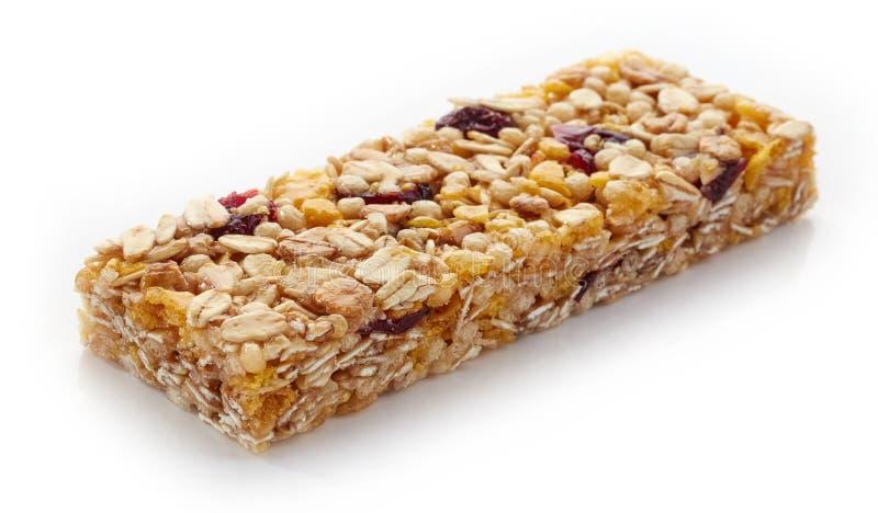 granola штанги предпосылки изолированный над белизной стоковая фотография rf