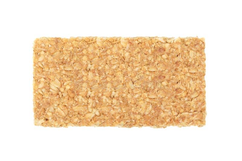Granola bars. Closeup of granola bars isolated on white background royalty free stock images
