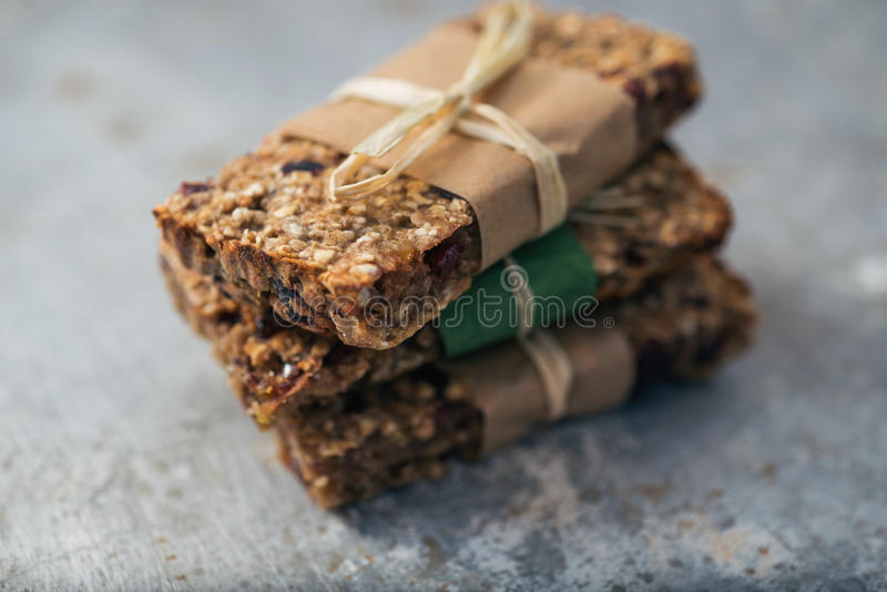 Granola bars. Group of delicious granola bars stock images