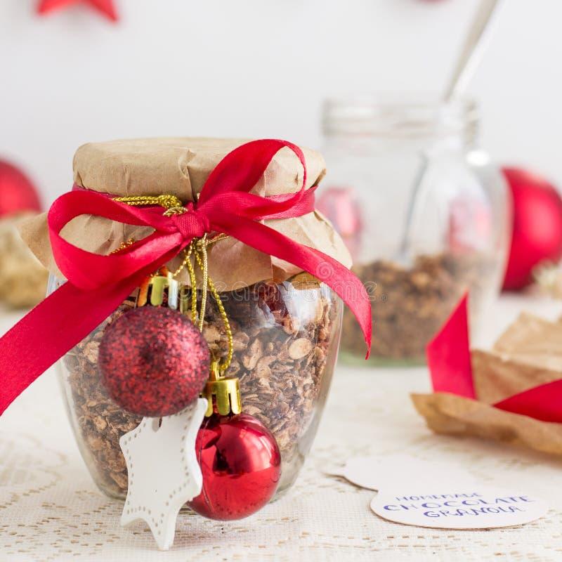 Granola faite maison de Noël images libres de droits
