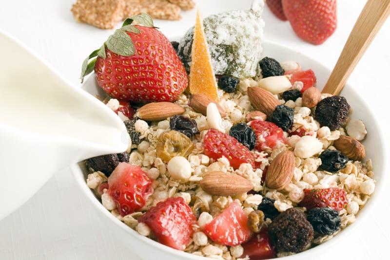 Download Granola & milk stock photo. Image of crunchy, fruits, vegetarian - 5851832
