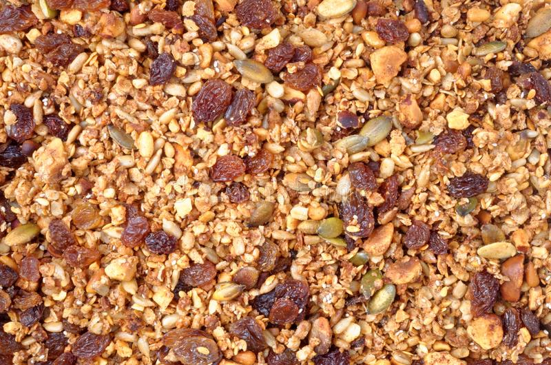 Granola Nut and Seed Mixture stock image