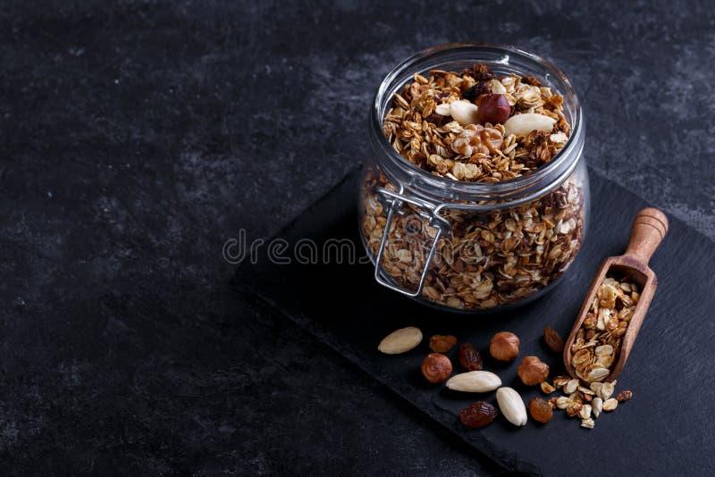 Granola sano casalingo fotografia stock