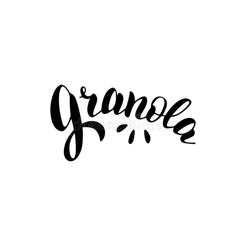Granola Typography Logo Design Trendy Lettering Style Text Logotype For Package Sticker Label Stock Vector Illustration Of Text Breakfast 153076412,Typography Logo Design Inspiration